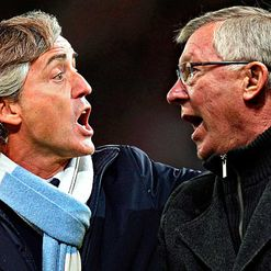 Mancini and Fergie: Best buds