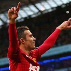 Van Persie: Celebrates &#39;special&#39; win
