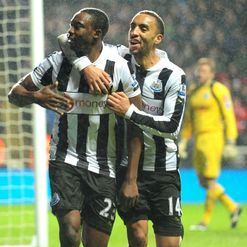 Ameobi (L): Nets the winner