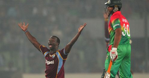 Kemar Roach West Indies v Bangladesh 5th ODI Dhaka