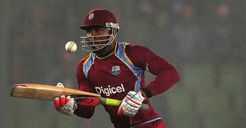 Marlon Samuels West Indies v Bangladesh T20 international Dhaka