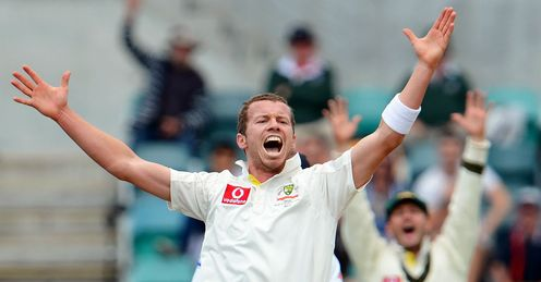 Peter Siddle Australia v Sri Lanka first Test 2012