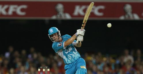 Chris Lynn Brisbane Heat v Perth Scorchers BBL Gabba
