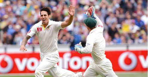 Mitchell Johnson Australia v Sri Lanka 2nd Test 2012