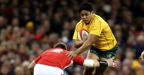 Wales v Australia Ben Tapuai Matthew Rees