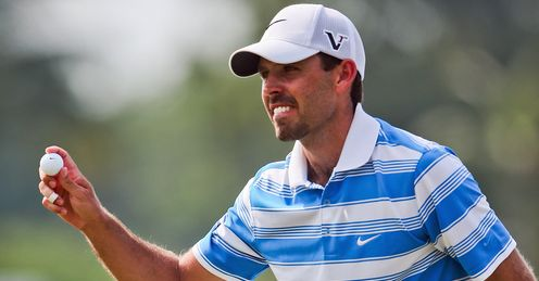 Leading the line: Charl Schwartzel