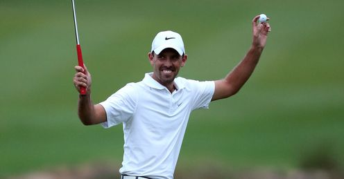 Charl Schwartzel - celebrating a magical year-end finish