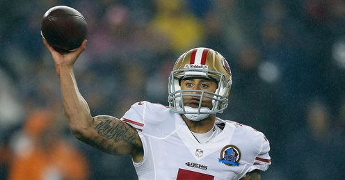 Kaepernick: the 49er was instrumental in his side's win over the Packers