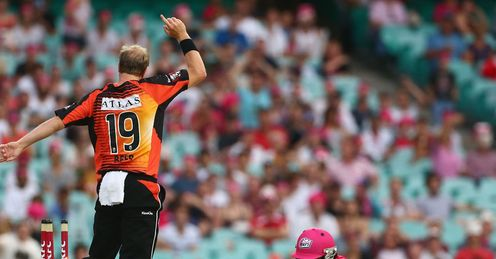Michael Beer fielding Perth Scorchers T20 Big Bash