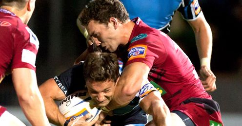 George North Chris Cusiter - Scarlets v Glasgow RaboDirect