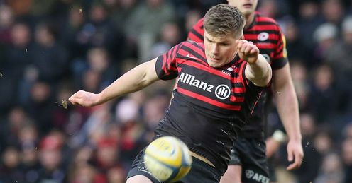 Farrell: kicked 10 penalties and a conversion as Saracens saw off Racing Metro