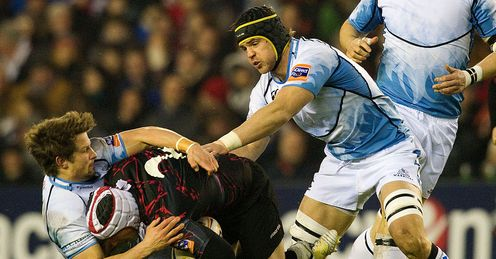 Peter Horne Tom Ryder Edinburgh Rugby Glasgow Warriors Rabodirect Pro12