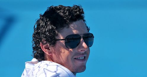 A happy McIlroy in a relaxed, holiday mood