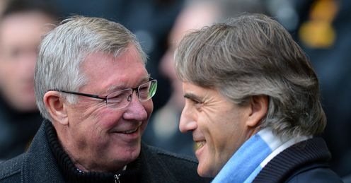 Ferguson and Mancini: who will be smiling come the end of the season?