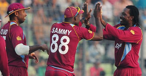 West Indies celebration v Bangladesh third odi