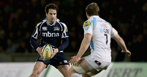 Danny Cipriani Sale Sharks running with the ball against Worcester