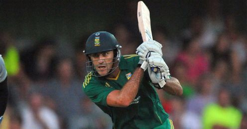 Faf du Plessis South Africa batting against New Zealand second T20I
