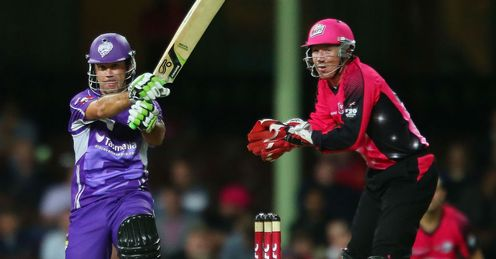 Ricky Ponting Hobart Hurricanes batting against the Sydney Sixers