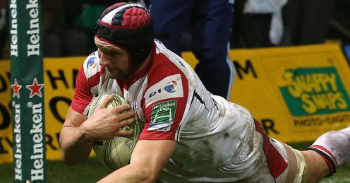 Dan Tuohy Ulster scoring a try against Northampton