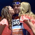 Geraint Thomas ended the day on the podium as race leader after an impressive stage win