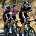 Team Sky were again pressed into action on another day defending the Ochre jersey
