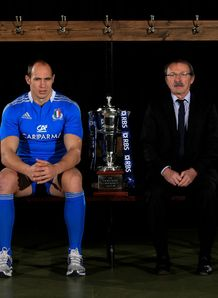 Six Nations 2013 launch Sergio Parisse and Jacques Brunel