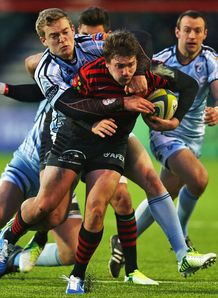 Saracens v Cardiff Blues Adam Powell Owen Williams