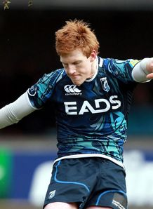 Cardiff Blues Rhys Patchell kicks a penalty