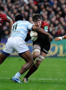 Ernst Joubert taking contact for Saracens
