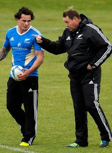 Zac Guildford talking with Steve Hansen