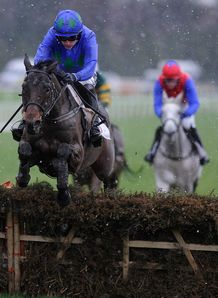 Hurricane Fly readily landed his third successive BHP Insurance Irish Champion Hurdle at Leopardstown
