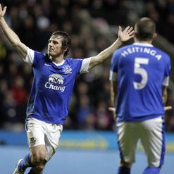 Baines (L): Superb free-kick from 35 yards