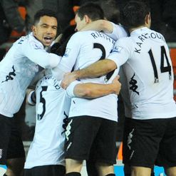 Fulham: embraced after win