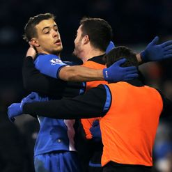 Di Santo: Set to lead the line for Wigan