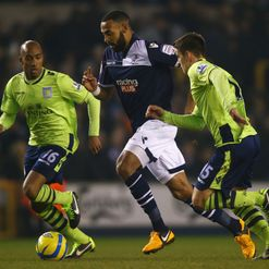 Liam Trotter on the ball for Millwall
