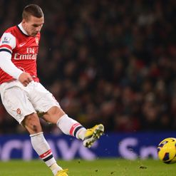 Podolski: Nets the winner
