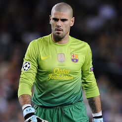 Valdes: Back in goal for Barca
