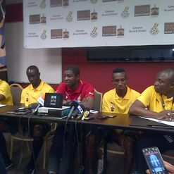 Ghana official team presser