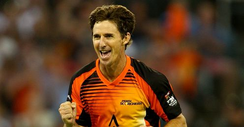 Brad Hogg Perth Scorchers v Sydney Thunder Big Bash League Perth WACA