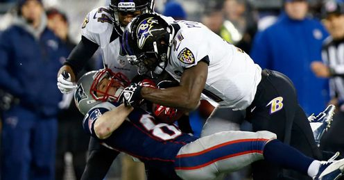 Wes Welker New England Patriots Baltimore Ravens defence