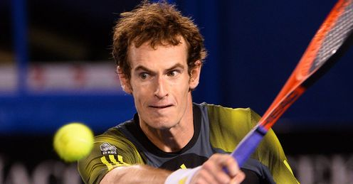 Andy Murray: struck 21 aces in the match, while Federer managed only five