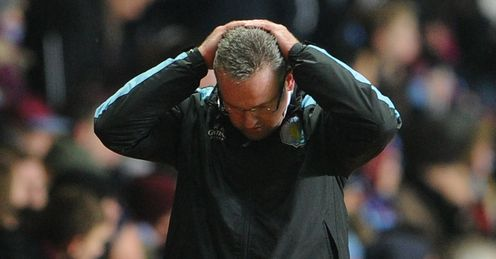 Lambert: faces crucial clash with Newcastle on Tuesday