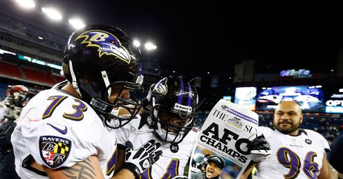 Baltimore Ravens celebration AFC Championship Game