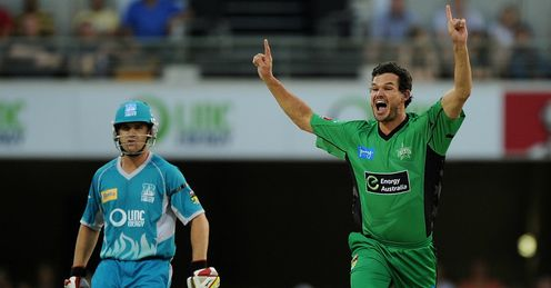 Clint McKay Brisbane Heat v Melbourne Stars Big Bash