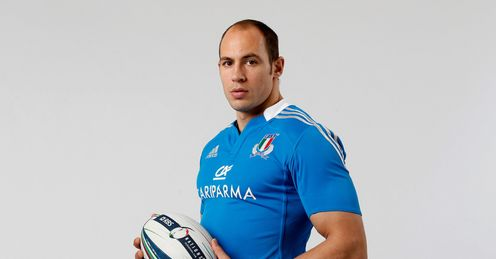 Italy captain Sergio Parisse Six Nations launch with ball