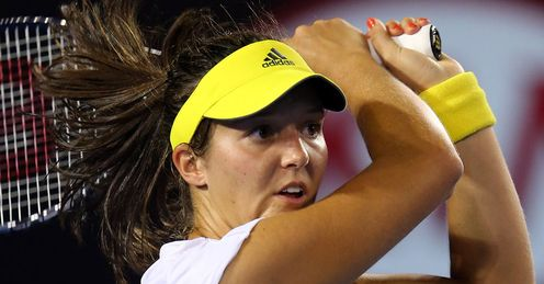 Laura Robson: battled to a 2-6 6-3 11-9 victory over Kvitova in a little over three hours