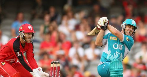 Luke Pomersbach Melbourne Renegades v Brisbane Heat Big Bash semi-final