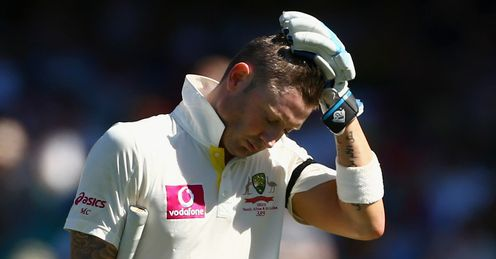 Michael Clarke out sad