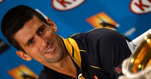 Novak Djokovic: struck 47 winners to Murray&#39;s 29 to win the trophy