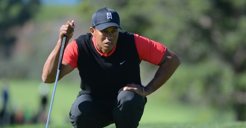Tiger Woods: Lining up a putt